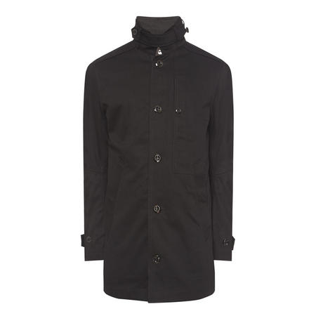 Garber Padded Trench Coat Black