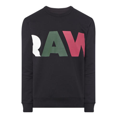 Logo Crew Neck Sweatshirt Black