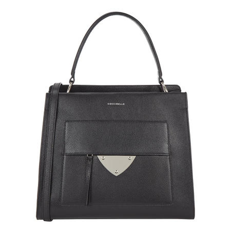 Leather Lady Bag Large Black