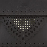 Gold Chain Detail Crossbody Bag Black