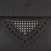 Gold Chain Detail Crossbody Bag Black