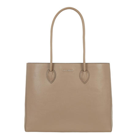 Farisa Top Zip Tote Bag Large Brown