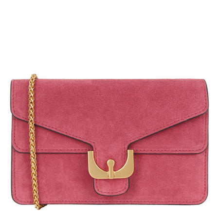 Ambrine Suede Crossbody Bag Pink