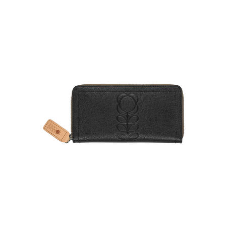 Embossed Flower Leather Wallet