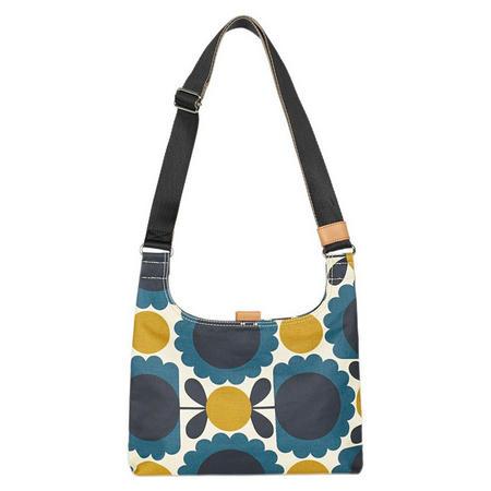 Scallop Flower Spot Small Sling Bag Blue
