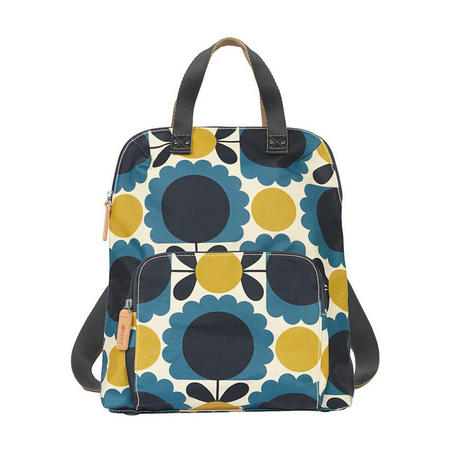 Scallop Flower Spot Backpack Blue