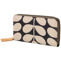 Sixties Stem Zip Around Wallet Grey
