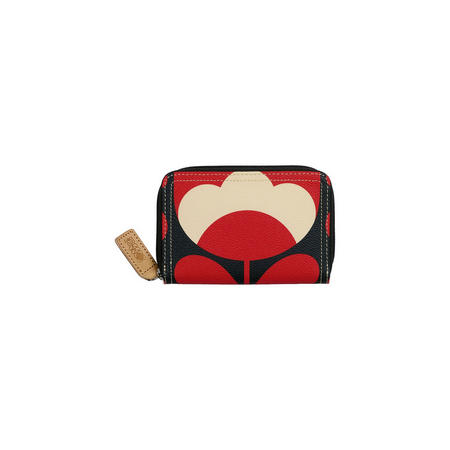 Spring Bloom Zip Around Wallet Red