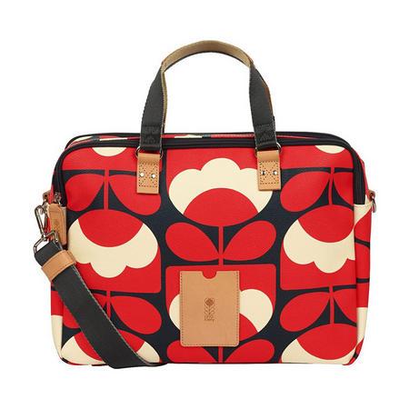 Spring Bloom Laptop Bag Red