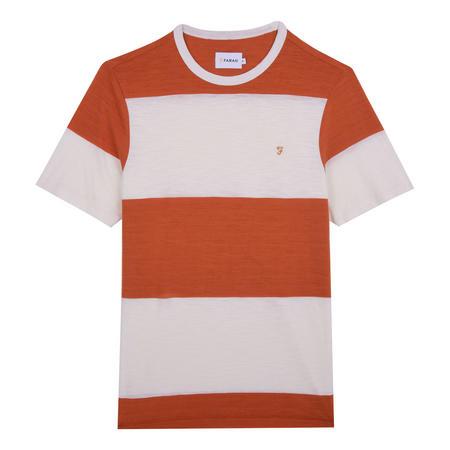Woolacombe Stripe T-Shirt Orange