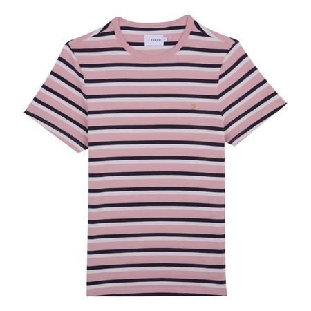 Factory Multi-Stripe T-Shirt Pink