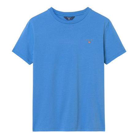 Boys Crew Neck Logo T-Shirt Blue