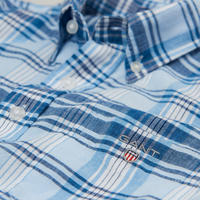 Boys Check Shirt Blue