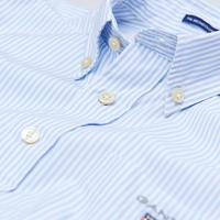 Boys Banker Stripe Shirt Blue