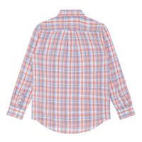 Boys Smart Check Shirt Red