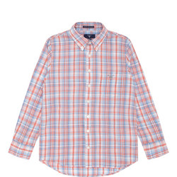 Boys Smart Check Shirt Red