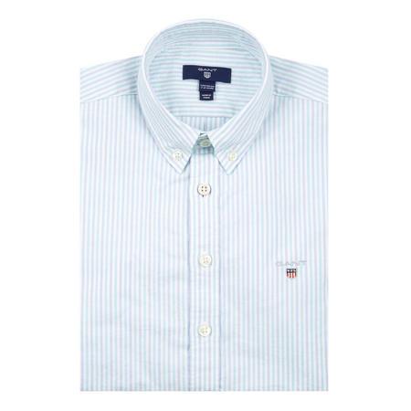 Boys Duo Stripe Banker Shirt Blue