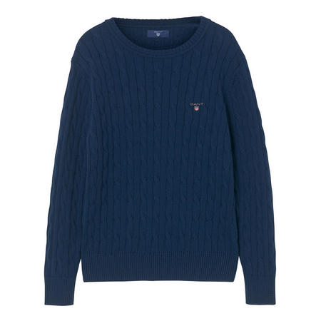 Boys Cable Knit Sweater Navy