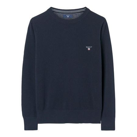 Boys Pique Cotton Sweater Navy