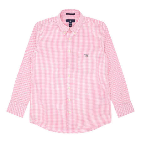 Boys Gingham Shirt Pink