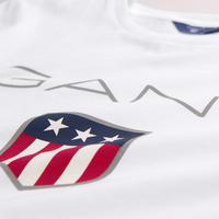 Boys Shield Logo T-Shirt White