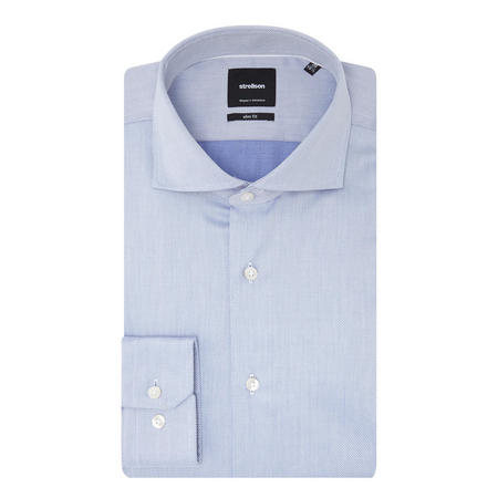 Sereno Micro-Diamond Slim Fit Shirt Blue