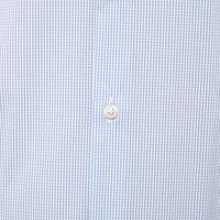 Micro-Check Slim Shirt Blue