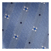 Diagonal Stripe Dot Tie Blue
