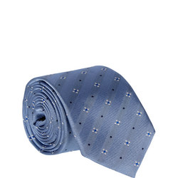 Diagonal Stripe Dot Tie Blue