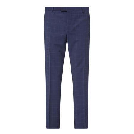 Mercer Check Suit Trousers Navy