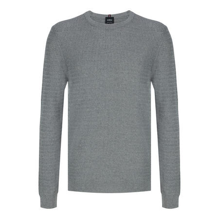 Textured Knit Sweater Grey