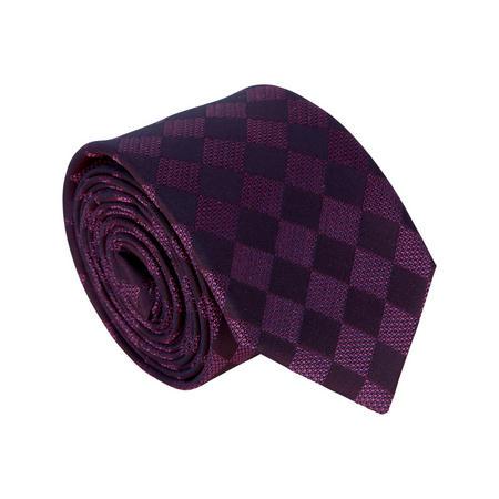 Large Diamond Pattern Tie Purple