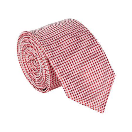 Diamond Pattern Tie Red