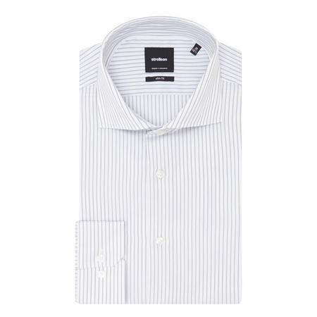 Striped Slim Fit Shirt Grey