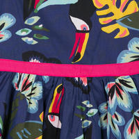 Tropical Print Voile Dress Multicolour