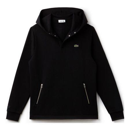 Hooded Fleece Sweat Top Black
