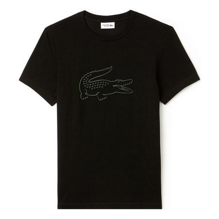 Crocodile Tech Jersey T-Shirt Black