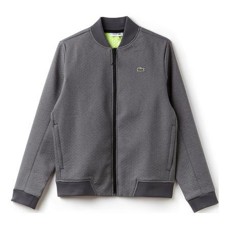 Textured Bomber Jacket Grey