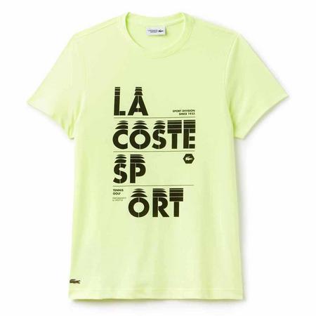 Graphic Logo Tech Jersey T-Shirt Yellow