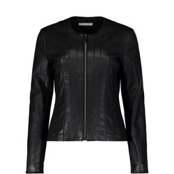 Zip Front Biker Jacket Black