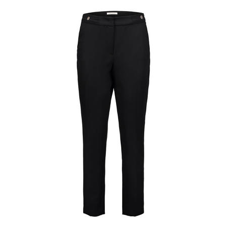 High Rise Stud Trousers Black
