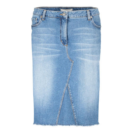 Light Wash Denim Skirt Blue