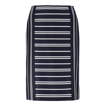Stripe Midi Skirt Navy