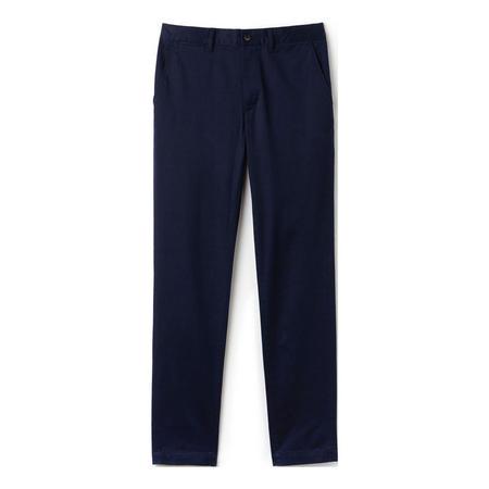 Stretch Gabardine Chino Trousers Navy