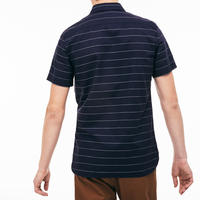 Striped Short Sleeve Oxford Shirt Blue
