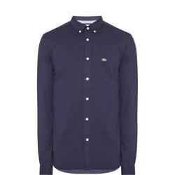 Slim Fit Pique Jersey Shirt Blue