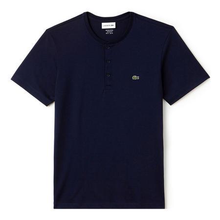 Henley Cotton Jersey T-Shirt Navy