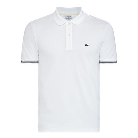 Striped Trim Polo Shirt Black