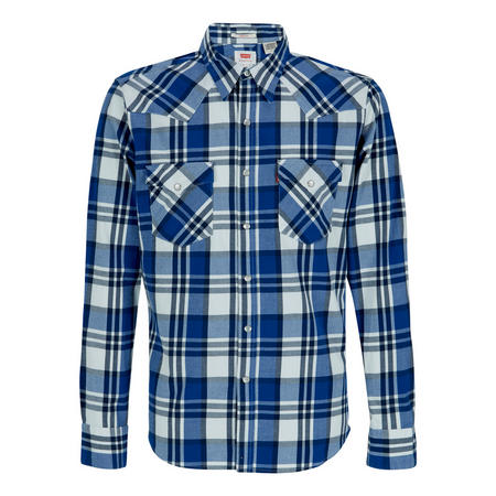 Barstow Western Check Shirt Blue