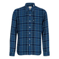 Sunset One Pocket Check Shirt Blue